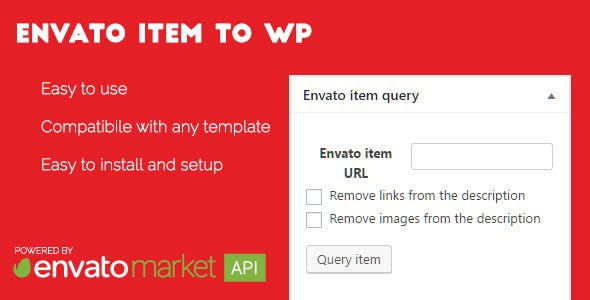 Envato item to WordPress post - WordPress plugin