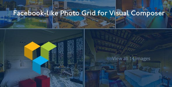 Facebook-like Photo Grid for Visual Composer