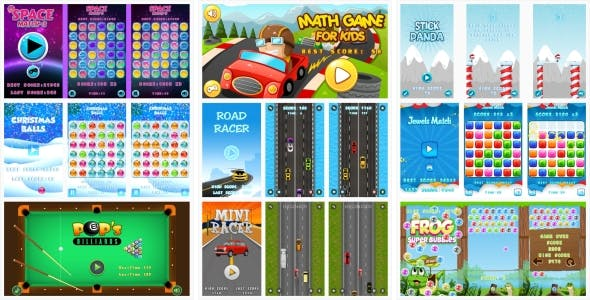 9-GAMES IN 1 BUNDLE! №1 (Construct 3   Construct 2   Capx)