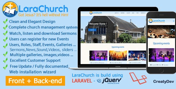 LaraChurch 2.0 - Complete Church Management System
