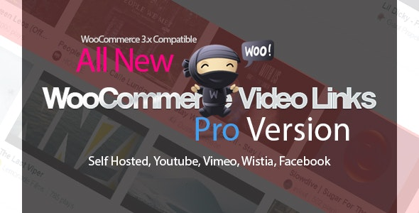 WooCommerce Video Links Pro - Product Gallery Self Hosted / Embedded Videos - CodeCanyon Item for Sale