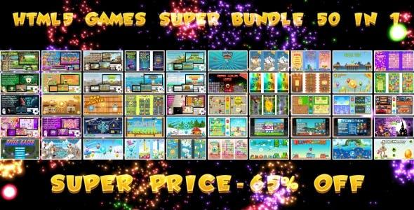 50 HTML5 GAMES!!! SUPER BUNDLE №1 (Construct 3 | Construct 2 | Capx)