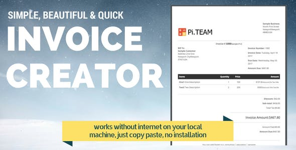 Invoice Generator PHP Scripts from CodeCanyon