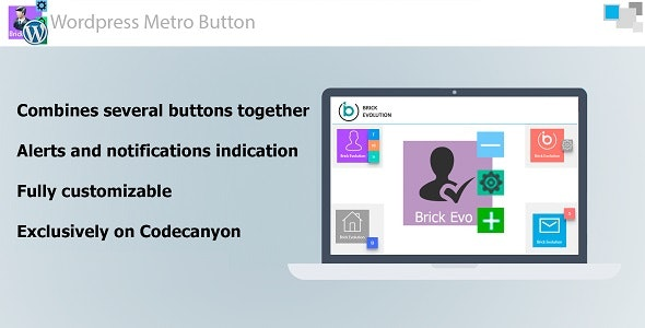 Metro Button WP with Interactive Notification Indication and Sub-Buttons - CodeCanyon Item for Sale
