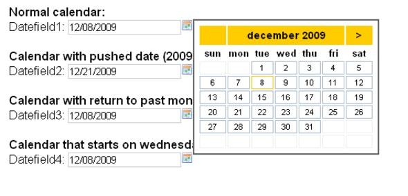 calendar - date picker - date field - CodeCanyon Item for Sale