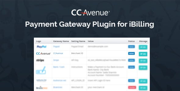 CCAvenue Payment Gateway Plugin for iBilling