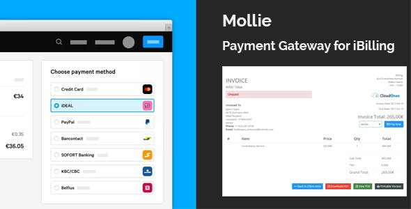 Mollie Payment Gateway Plugin for iBilling