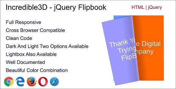 Incredible3D - jQuery Flipbook