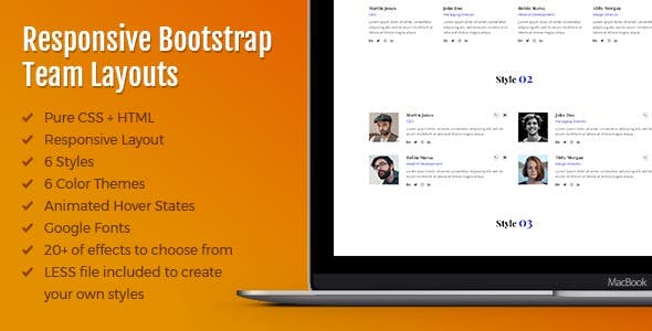 ATeam - Responsive Bootstrap Team Layouts