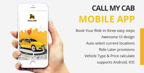 Online Taxi Booking App -Call My Cab Mobile App by CodeInfoTec