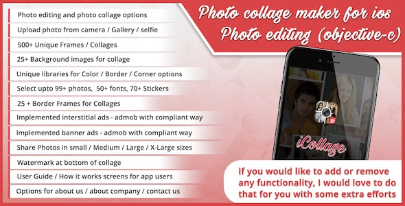 Photo collage maker for ios - photo editing (objective-c) - CodeCanyon Item for Sale