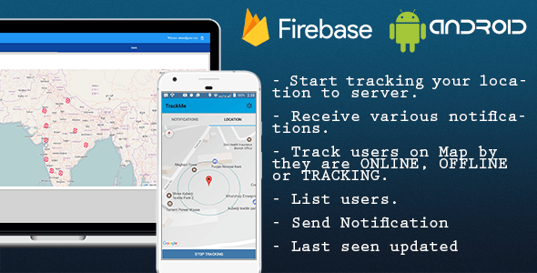TrackMe, Realtime location tracking system. Firebase, Polymer, Android. - CodeCanyon Item for Sale