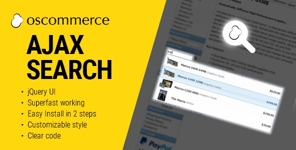 Ajax Search Autocomplete for osCommerce - CodeCanyon Item for Sale