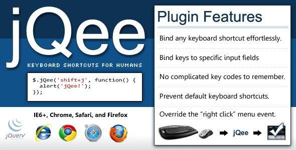 jQee - Keyboard Shortcuts for jQuery - CodeCanyon Item for Sale