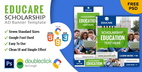 Educare | Education  HTML 5 GWD Animated Google Banner - CodeCanyon Item for Sale