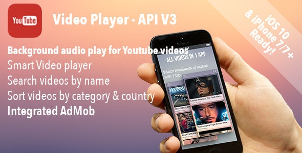 Youtube Video Player iOS - CodeCanyon Item for Sale