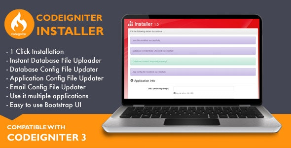 Installer for Codeigniter Application - CodeCanyon Item for Sale