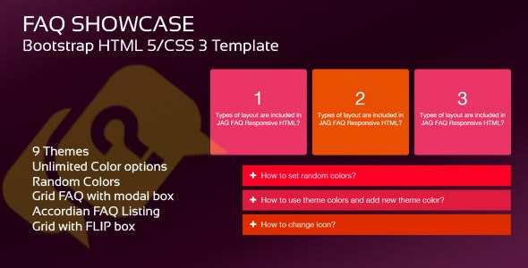 Bootstrap FAQ Showcase - CodeCanyon Item for Sale