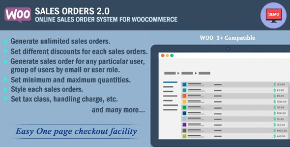 Woocommerce Sales Orders