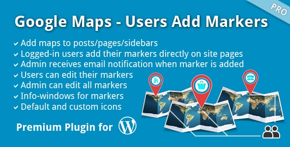 Google Maps - Users Add Markers by bunte-giraffe   CodeCanyon