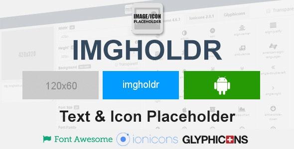 Imgholdr - Image & Icon Placeholder - CodeCanyon Item for Sale