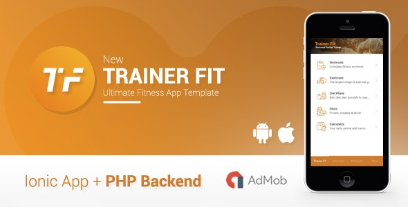 Trainer Fit | Complete Fitness App + Admin Panel | Ionic 1 - CodeCanyon Item for Sale