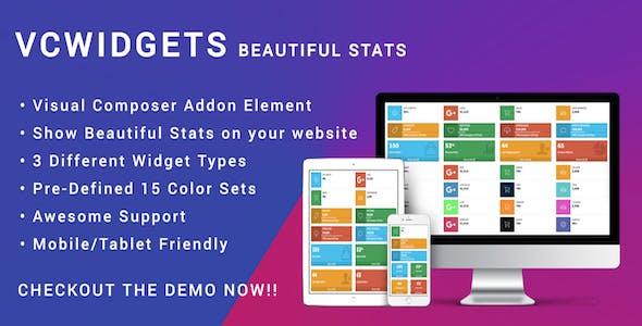 Visual Composer Stats Widgets - Responsive AdminLTE