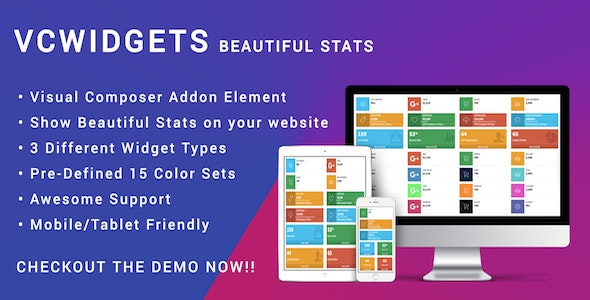 Visual Composer Stats Widgets - Responsive AdminLTE - CodeCanyon Item for Sale