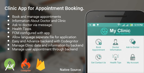 Clinic Appointment Booking App - CodeCanyon Item for Sale