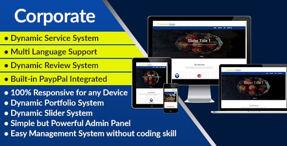 Corporate - Corporate Business Website and Management System