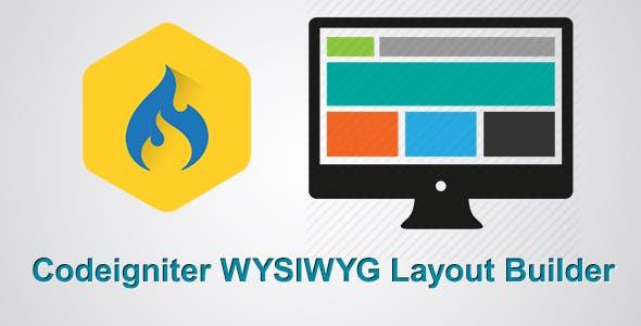 Codeigniter Drag & Drop WYSIWYG Layout Builder