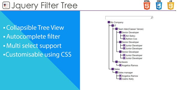 Tree Filter - Tree View with Filtering and Multiselect by BrickEvolution