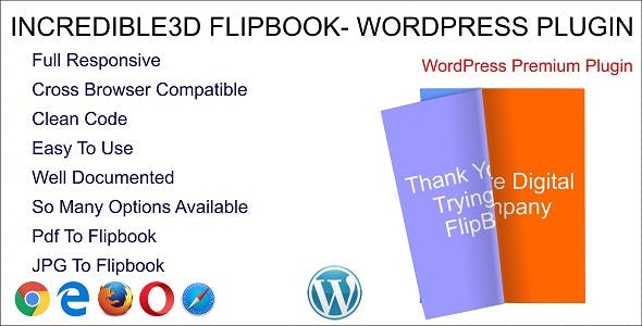 Incredible3D - WordPress Flipbook Plugin