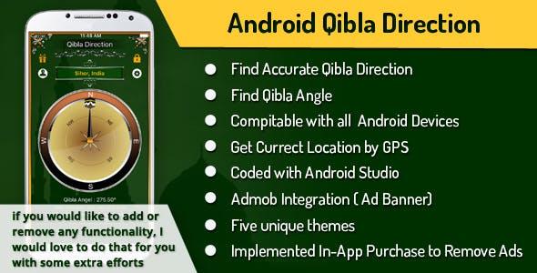 Qibla Compass / Direction (Android Studio)
