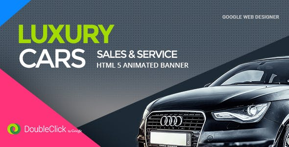 Car Sales and Service - HTML Animated Banner 02