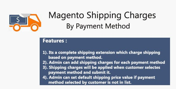 Magento Shipping Charges By Payment Method