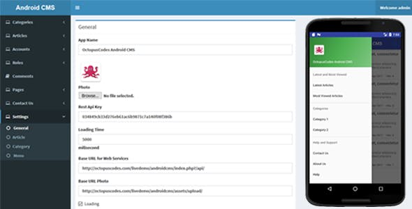 OctopusCodes - Android CMS