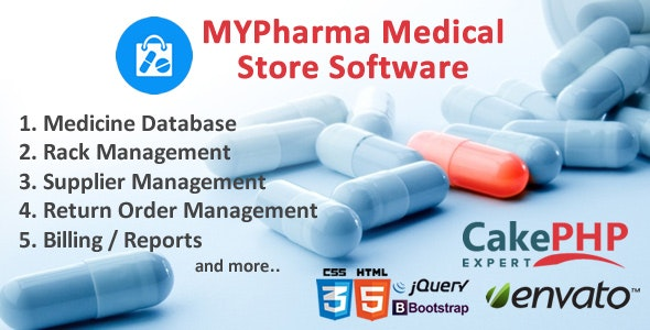 MyMedic Medical Store Software - CodeCanyon Item for Sale