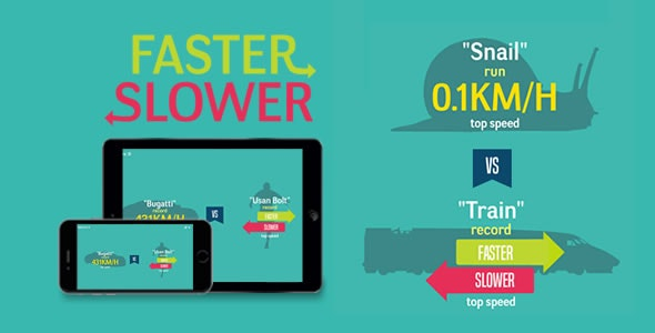 Faster or Slower - HTML5 Game - CodeCanyon Item for Sale