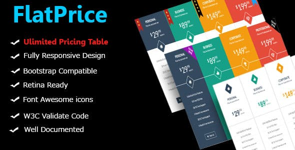 FlatPrice - Wordpress Pricing Tables