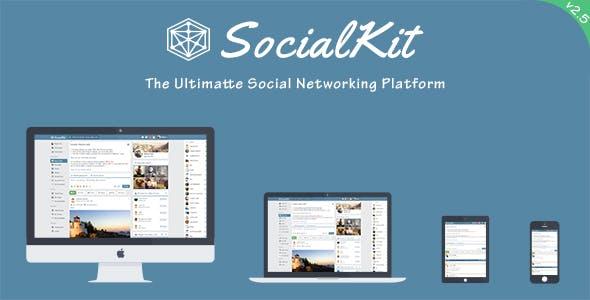 SocialKit - The Ultimate Social Networking Platform        Nulled