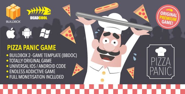 Pizza Panic - BuildBox 2 Game Template Document - iOS / Android / BBDOC