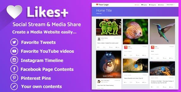 Likes Plus - Social Stream & Media Share