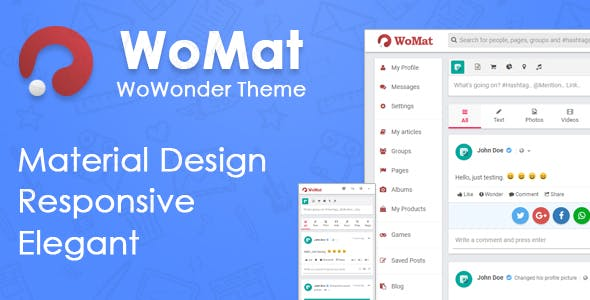 WoMat - Material Theme for WoWonder