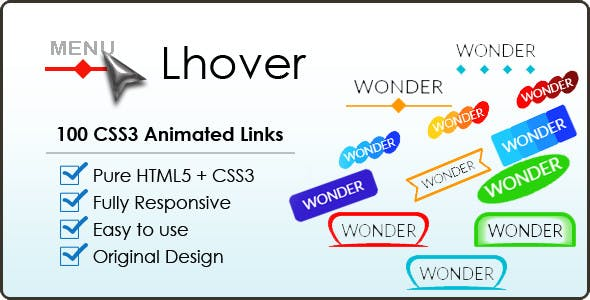 Lhover – 100 CSS3 Animated Buttons