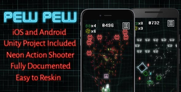 Pew Pew - Mobile Game, Unity Project Included!