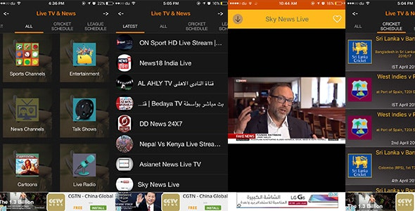 You Free Live TV Streaming, Matches & Leagues Schedules and News Feed - CodeCanyon Item for Sale