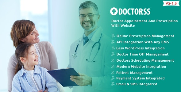 Doctorss - Doctor Appointment and Prescription System with Website - CodeCanyon Item for Sale