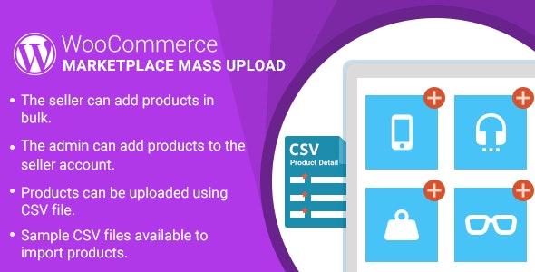 WordPress WooCommerce Marketplace Mass Upload Plugin - CodeCanyon Item for Sale