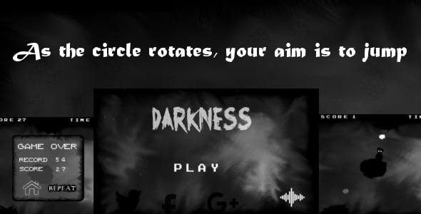 Darkness - Html5 Mobile Game - android & ios